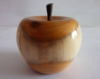 Handcrafted Wooden Apple made from Yew,Ideal Gift For All occasions.