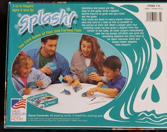 Splash Card Game by Great American Puzzle Factory Ages 5+ 1993 Vintage Complete