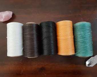 5 X 260m of 1mm waxed cord reels  (5 reels as shown in this picture)