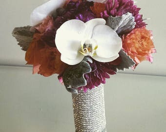 Rhinestone Bouquet Cuff Bridal Holder Jewel