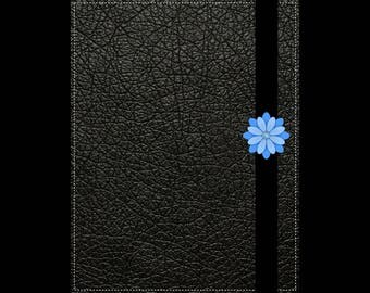 Black leather bullet journal / notebook