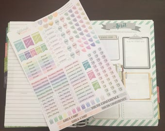 LDS Young Women Presidency Planner Stickers -- made to fit the Erin Condren Life Planner