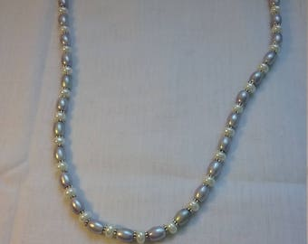 Lovely Italian Renaissance style Glass Pearl necklace