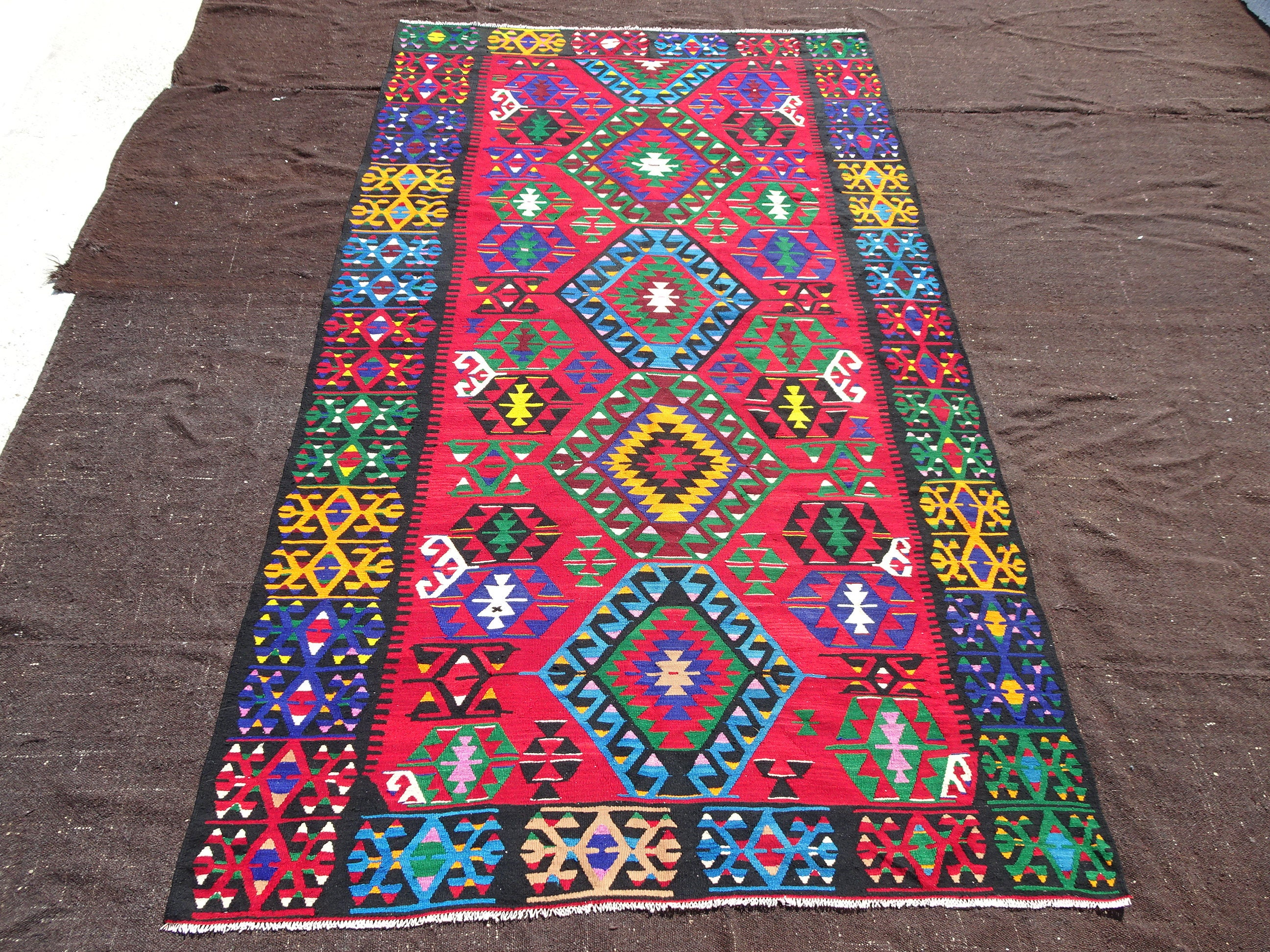 turkish century two then and adana hand is kilim located this together as eastern mid in vintage pin pieces woven rug stitched rugs