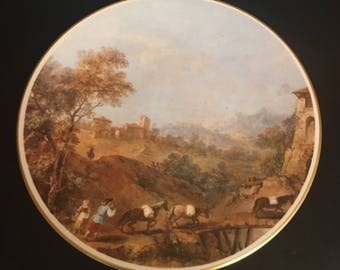 "Vintage Pickard Handcrafted Plate ""Francesco Fuccarelli"" Landscape with Mill"