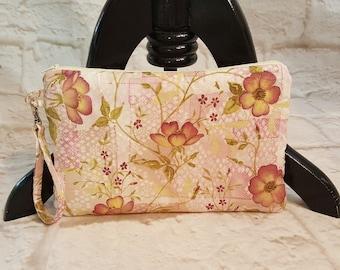 Clutch purse - Handmade clutch - Pink clutch bag - Evening bag - Flower print - Evening clutch - Clutch bag - Small clutch - Handmadeclutch
