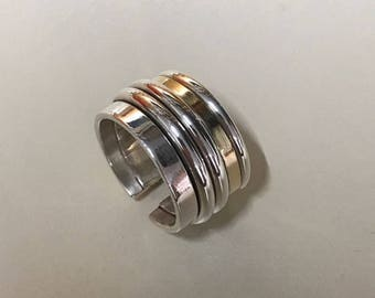Gold and Silver multiband ring