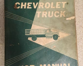 Original 1960 Chevrolet truck shop manual-all models.