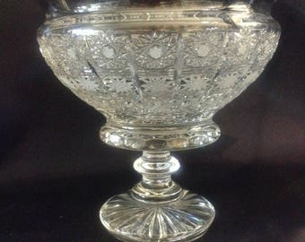 Czech bohemia crystal glass - Cut bowl 15cm