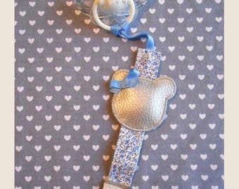 hanging Silver Blue pacifier