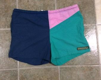 Vtg ocean pacific color block swim shorts size xl
