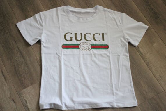 Vintage inspired gucci logo screen print street wear hip hop for Vintage screen print t shirts
