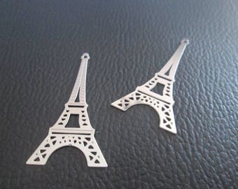 prints 2 / charm Eiffel Tower 39 x 19 mm stainless steel
