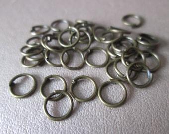 50 jump rings / jump metal bronze 6 mm