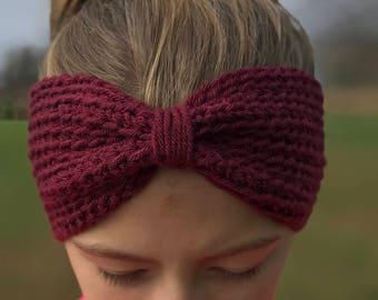 Ear warmer headband / Knot ear warmer / Crochet headband / Boho headband / Crochet earwarmer / Ear warmer / Knot headband / Winter headband