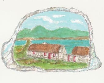 Ireland, County Galway, Connemara, Emerald, Irish thatched house, Oyster shell