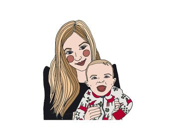 Mommy & Baby illustration