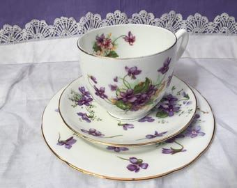Bone China Teacup Trio - Hammersley saucer and side plate Duchess Teacup Excellant match