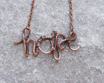 personalized name name necklace copper jewelry bridesmaids gifts custom actual handwriting jewelry custom jewelry