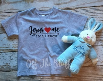 Jesus Loves Me This I Know Kids Shirt