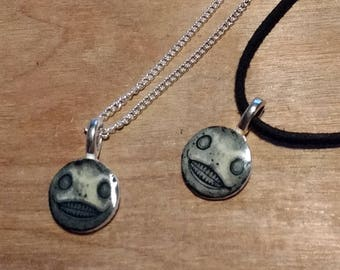 Nier // Nier Automata // Necklace // Emil // silver plated chain // Faux suede choker