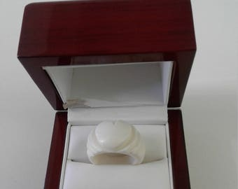 Gorgeous Handmade Bone carved ring