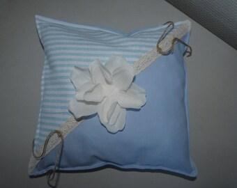 Cushion alliance blue/striped
