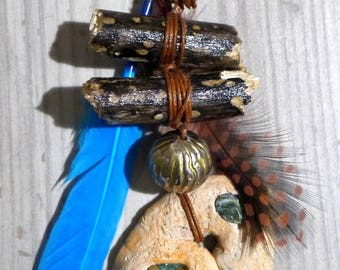 "Handmade Native American necklace, ethnic necklace Tribal necklace, ""Akecheta"""
