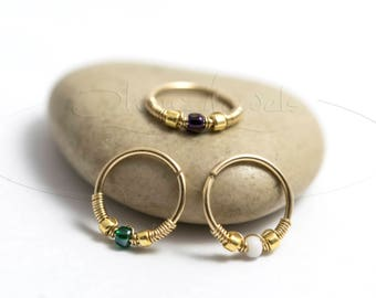 20G 22G 14kt Gold Filled Nose Hoop Ring or Cartilage Earring
