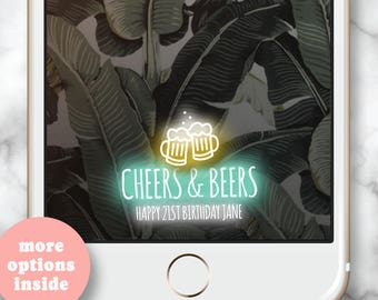 30th birthday for her * Cheers and Beers to 30 years, Birthday Boy Geofilter, 30th birthday Snapchat Geofilter, Birthday Geofilter