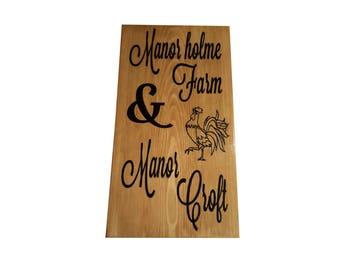 wooden address sign etsy