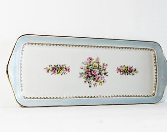 Shabby Chic Serving Tray, French Serving Platter, Floral Serving Tray, French Serving Tray, Antique Serving Platter, Limoges Platter E687