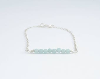 Delicate Amazonite Bar Bracelet