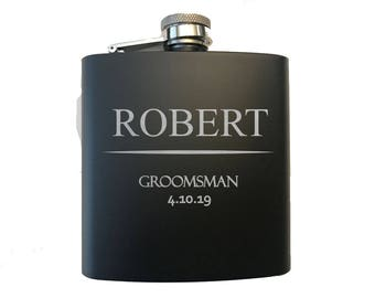 Personalized Flask for Wedding Party - Wedding Party Gifts - Bachelor and Bachelorette Party Flasks - Hip Flask