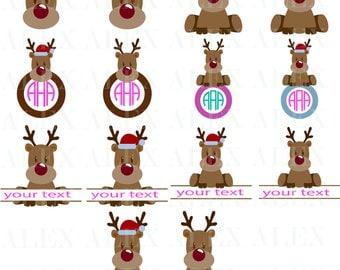 70% OFF, Deer Head Monogram SVG, Deer Monogram Svg, Deer png, eps, svg, dxf, Deer Clipart, Christmas Deer Monogram Frame, Deer svg Cut File