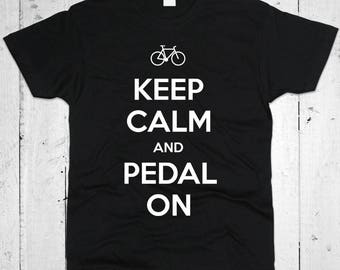 Keep Calm And Pedal On Men T-shirt