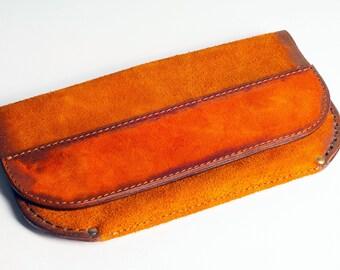 Wallet Long wallet Leather wallet Leather handbag Clutch bag Clutch purse Suede clutch  Suede bag Womens wallet Suede wallet Gift for her