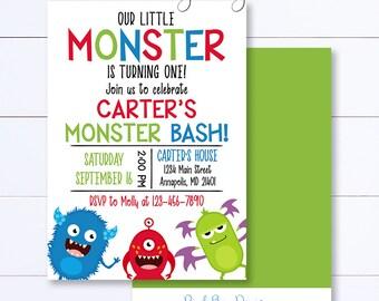 Monster Birthday Invitation, Monster Invitation, Monster Birthday Party, Monster Birthday, Monster Party Invite, Monster Birthday Invite
