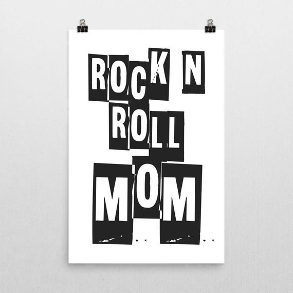 ROCK N ROLL MOM | Wall Art | Poster