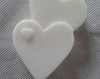 Wax pattern Double scented heart leather & Iris