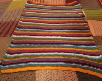Hand knitted babys blanket