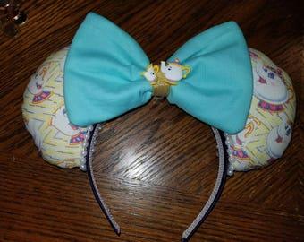 Disney inspired Mrs Potts park ears