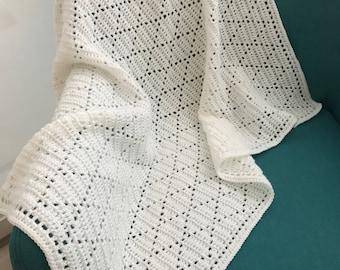 Crochet diamond blanket | made to order