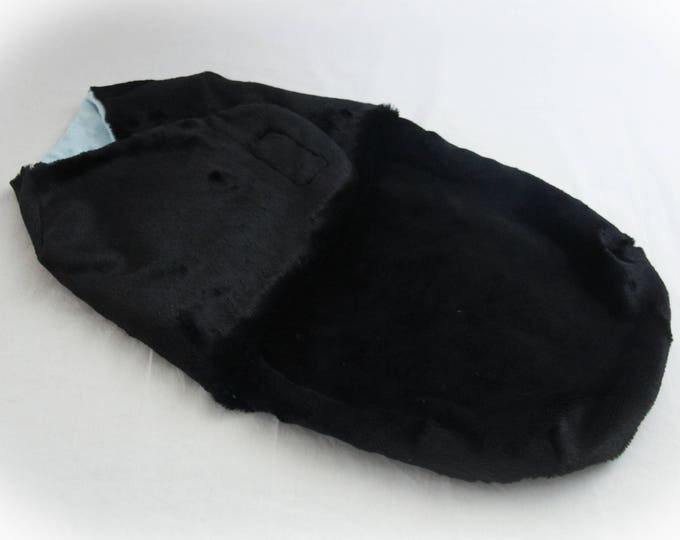 Black Swaddle Wrap / Boy Baby Swaddle Sack / Baby Cocoon Wrap / Swaddle Sack / Black Baby Swaddle / Swaddle Sack Prop / READY TO SHIP!