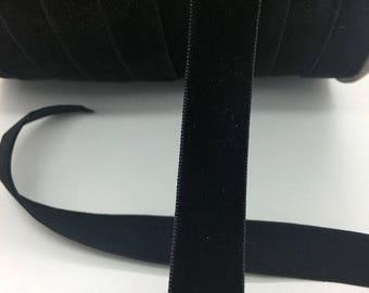 5 yards 5/8 Black Velvet Ribbon