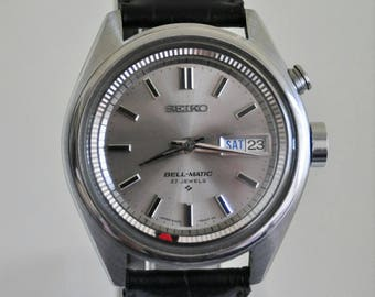 Vintage Mens SEIKO BELL-MATIC 27 jewels Japan Automatic Watch 70's