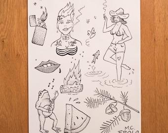 Tattoo Flash Sheet I