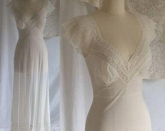 Vintage 1950's Sheer Nightgown by Vanity Fair