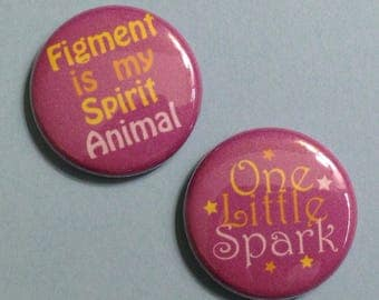 """Figment - Journey Into Imagination Inspired 1"""" Button"""