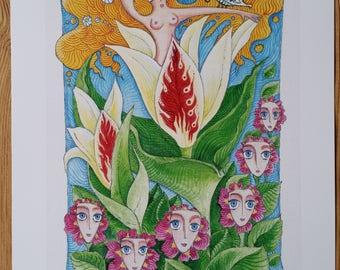 Art Print. Soul of the Flower.